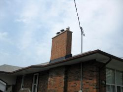 New East York Chimney Matching The Brickwork