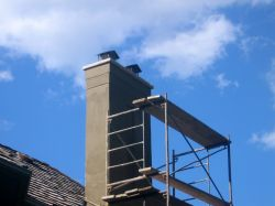 Parged Chimney
